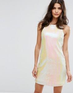 Платье с пайетками Lipsy - Белый