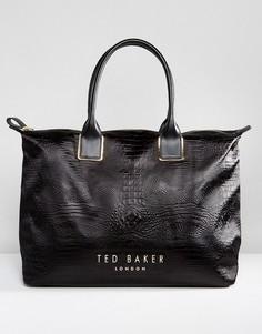 Большая сумка-тоут Ted Baker - Черный
