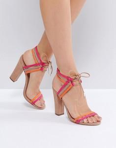 Коричневые босоножки на блочном каблуке Call It Spring Astoressi - Коричневый