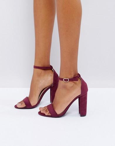 Бордовые босоножки на каблуке Glamorous - Красный