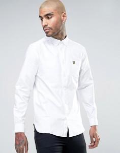 Белая оксфордская рубашка на пуговицах с логотипом в виде орла Lyle & Scott - Белый