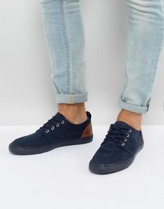 Темно-синие туфли в стиле casual из искусственной замши ASOS - Темно-синий