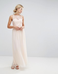 Платье макси с цветочной аппликацией Little Mistress - Розовый