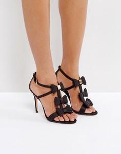 Черные босоножки на каблуке с бантиками Ted Baker Appolini - Черный