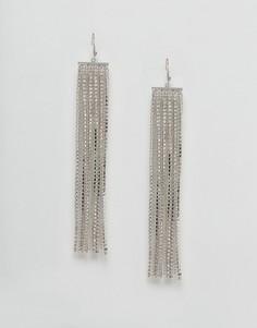Серьги с цепочками ASOS - Серебряный
