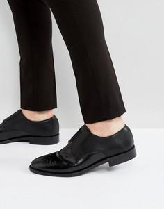 Черные кожаные туфли с тиснением House Of Hounds Aiden - Черный