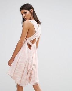 Платье с поясом сзади Finders I Spy - Мульти