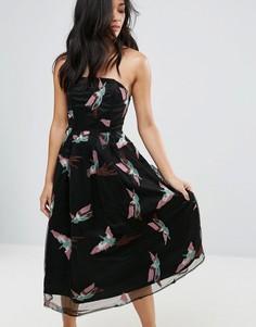 Платье-бандо для выпускного Glamorous - Мульти