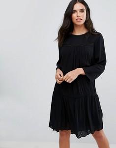 Платье с кружевной отделкой Y.A.S - Черный