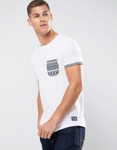 Футболка с принтом на кармане Tom Tailor - Белый