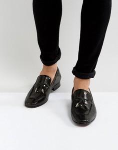 Черные кожаные лоферы с кисточками Jeffery West Jung - Черный