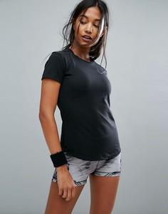 Черная футболка с сетчатыми вставками adidas Training Prime Mix - Черный