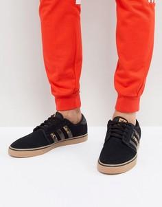 Кроссовки с резиновой подошвой adidas Skateboarding Seeley BY4015 - Черный