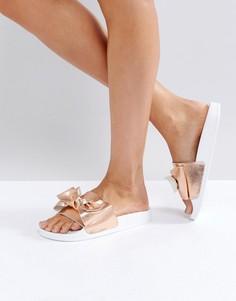 Розово-золотистые сандалии с бантом Dune Lovelle - Золотой
