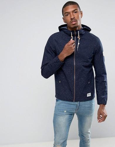 Легкая хлопковая куртка в крапинку с капюшоном Tom Tailor - Темно-синий