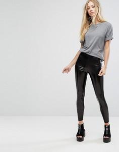 Блестящие леггинсы Glamorous - Черный
