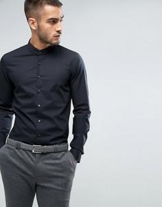 Супероблегающая строгая рубашка с воротником на пуговице Calvin Klein - Черный