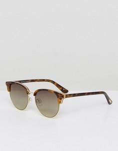 Солнцезащитные очки в стиле ретро в черепаховой оправе Le Specs Deja Vu - Коричневый