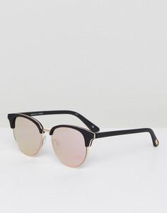 Черные солнцезащитные очки в стиле ретро Le Specs Deja Vu - Черный