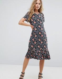 Платье с принтом Vila - Черный