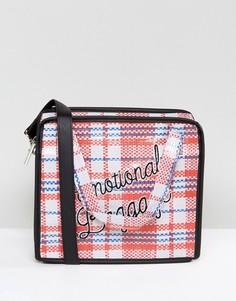 Сумка через плечо с надписью Emotional Baggage Skinnydip - Мульти