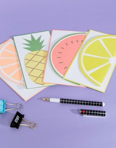 Набор из 12 открыток Meri Meri Fruit - Мульти