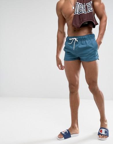 Синие короткие шорты для плавания ASOS - Синий