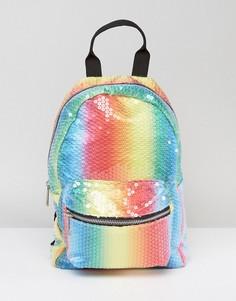 Миниатюрный разноцветный рюкзак с пайетками ASOS - Мульти