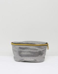 Серебристая сумка-кошелек на пояс из искусственной кожи Mi-Pac - Серебряный