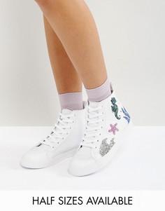 Высокие кроссовки ASOS DIVE IN - Белый