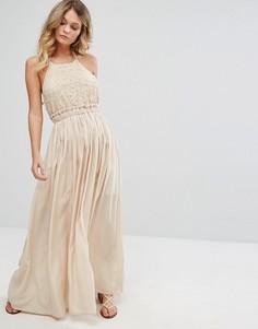 Платье макси без рукавов Moon River - Кремовый