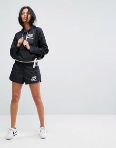 Шорты с молнией Nike Archive - Черный