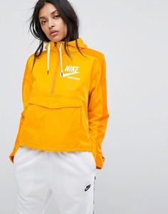 Тканая куртка горчичного цвета Nike Archive Pro - Желтый