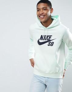 Зеленый худи без застежки Nike SB Mint Pack Icon 846886-372 - Зеленый