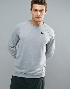 Серый флисовый свитшот Nike Training Dri-FIT 860474-063 - Серый