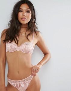 Бюстгальтер на косточках с кружевом ASOS Arianna - Розовый
