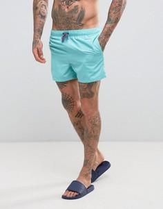 Сине-зеленые короткие шорты для плавания ASOS - Зеленый