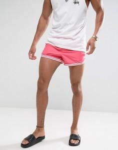 Розовые короткие шорты для плавания с контрастной отделкой ASOS - Розовый