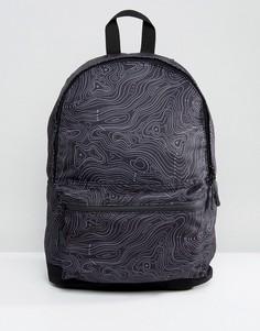 Черный рюкзак с принтом ASOS - Черный
