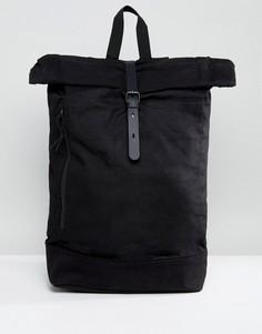 Черный рюкзак с ролл-топом и внутренним карманом для ноутбука ASOS - Черный