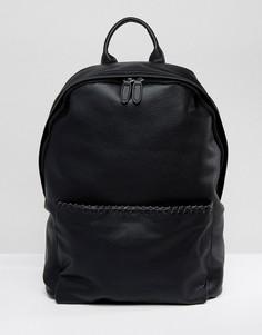 Черный рюкзак из искусственной кожи с отделкой ASOS - Черный