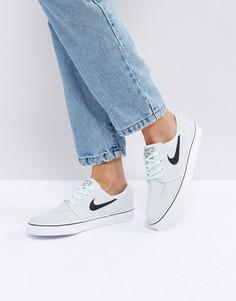 Замшевые светло-бирюзовые кроссовки Nike SB Zoom Janoski - Зеленый