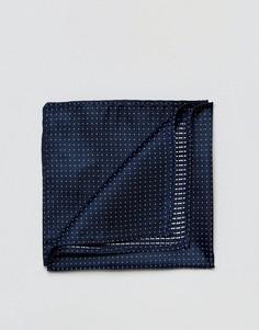 Синий платок для нагрудного кармана в горошек Jack & Jones - Синий