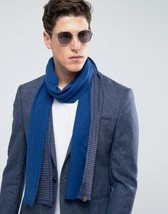 Легкий трикотажный шарф с полосками Esprit - Синий