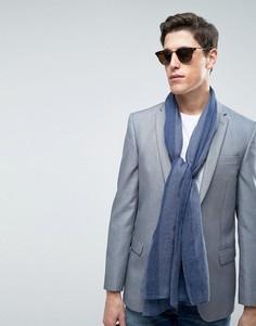 Легкий шарф в полоску Esprit - Темно-синий
