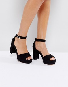 Босоножки на каблуке ASOS HEIDI - Черный