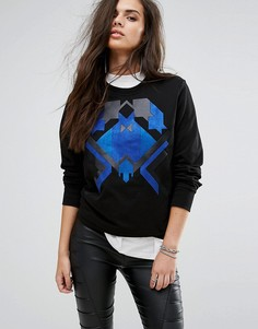 Свитшот с принтом Versace Jeans - Черный