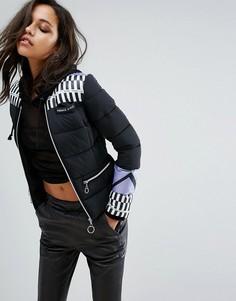 Дутая куртка с логотипом Versace Jeans - Мульти