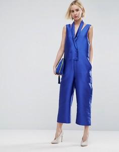 Комбинезон в стиле смокинга без рукавов ASOS WHITE - Синий