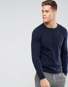 Темно-синий джемпер с круглым вырезом Burton Menswear - Темно-синий